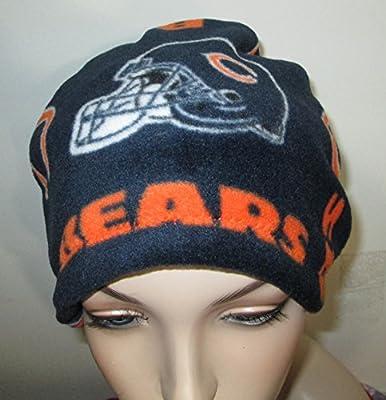Chicago Bears Fleece Cap Cancer Chemo Hat Alopecia Head Cover Cancer Beanie