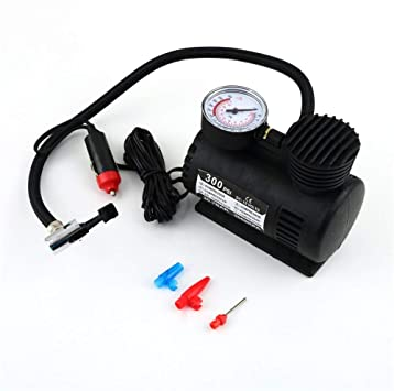12V Car Electric Mini Compact Compressor Pump Air Inflator 300 PSI Tyre Black