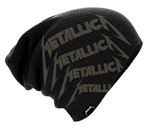Band Hardwired Beanie Logo Nuevo Oficial Negro Repeat Sombrero Metallica de YEwtUU