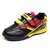 Tiebao Boys Classic Hook&Loop Soccer Sneakers Professinal Football Shoes Kids/Junior Siz