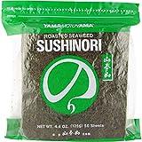 Yamamotoyama Sushi Nori Roasted Seaweed Full Size, 50 Sheets
