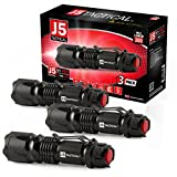 J5 Tactical V1-Pro Flashlight (3 Pack) The Original High Lumen Ultra Bright, LED 3 Mode Flashlight …