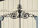 Large Tuscan Wrought Iron Metal Wall Decor For Sale