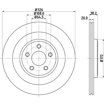 Hella Pagid 8dd 355 115 581 Brake Disc Pro Rear Axle Surface