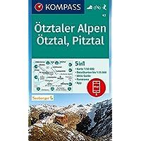 Kompass WK43 Ötztaler Alpen, Ötztal: 5in1 Wanderkarte 1:50000 mit Panorama, Aktiv Guide und Detailkarten inklusive Karte…