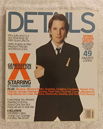 Ethan Hawke - Generation X: 10 Years Later - Details Magazine - March 2002 - Hells Angels article - No Address Label!