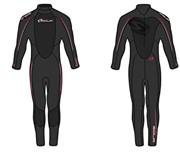 cc2eaf3e52 SOLA Mens 'Core' 5mm Cold Water Wetsuit Black with blue or red ...