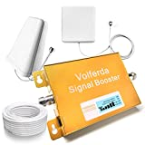 Volferda Cell Phone Signal Booster With Display and Directional & Wall Panel Antenna 1900MHz Band 2 Single Band Mobile Repeater For 2G/3G/4G T-Mobile,AT&T 2G/4G Verizon,Sprint