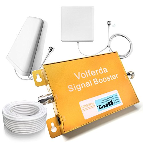 Volferda Cell Phone Signal Booster 1900MHz Band 2 Single Band Mobile Repeater For 2G/3G/4G T-Mobile,AT&T 2G/4G Verizon,Sprint (Single Phone Cellular)