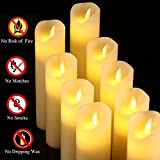 Antizer Flameless Candles Set of 9 Ivory Dripless
