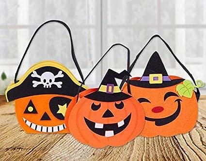 YC DOLL Halloween Candy Bag, Bolso De Calabaza, Juego De 3 ...