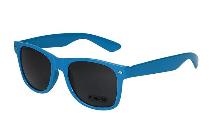 X-CRUZE 4er Pack X0 Nerd Sonnenbrillen polarisierend Vintage Retro Style Stil Unisex Herren Damen Männer Frauen Brillen Nerdbrille Nerdbrillen - schwarz matt & weiß matt - Set X - AVGL3