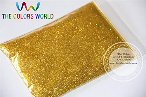 Kamas B0203 03 Light Gold Color Glitter powder -0.2MM glitter dust dazzling glitter powder,DIY Flash powder - (Color: 500)