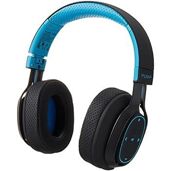 BlueAnt - Pump Zone Over Ear HD Wireless Headphones, 30+ hour battery, Mega Bass and Enhanced Sound Purity (Blue)