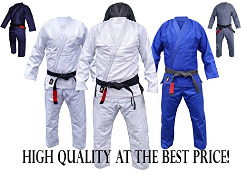 Your Jiu Jitsu Gear Brazilian Jiu Jitsu Premium Uniform A3 White with contrast and BJJ White Belt
