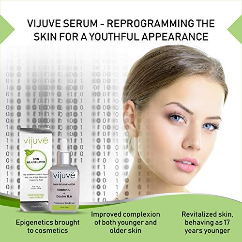 51DcBj8faiL - VIJUVE 45% Vitamin C Serum with Double Hyaluronic Acid and Collagen Peptides for Face, Eyes, Neck and Chest - Bio-Boosted Anti Aging Skin Care for Dark Spots, Wrinkles, Tightening and Even Tone, 1oz.