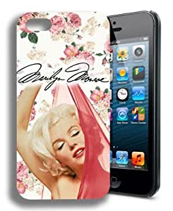 diy zhengNEW Marilyn Monroe Cute Floral popular iphone 5cand Case