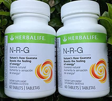 Herbalife NRG (Natures Raw Guarana) Tabletas Combo de 2 60 tabletas por botella: Amazon.es: Electrónica