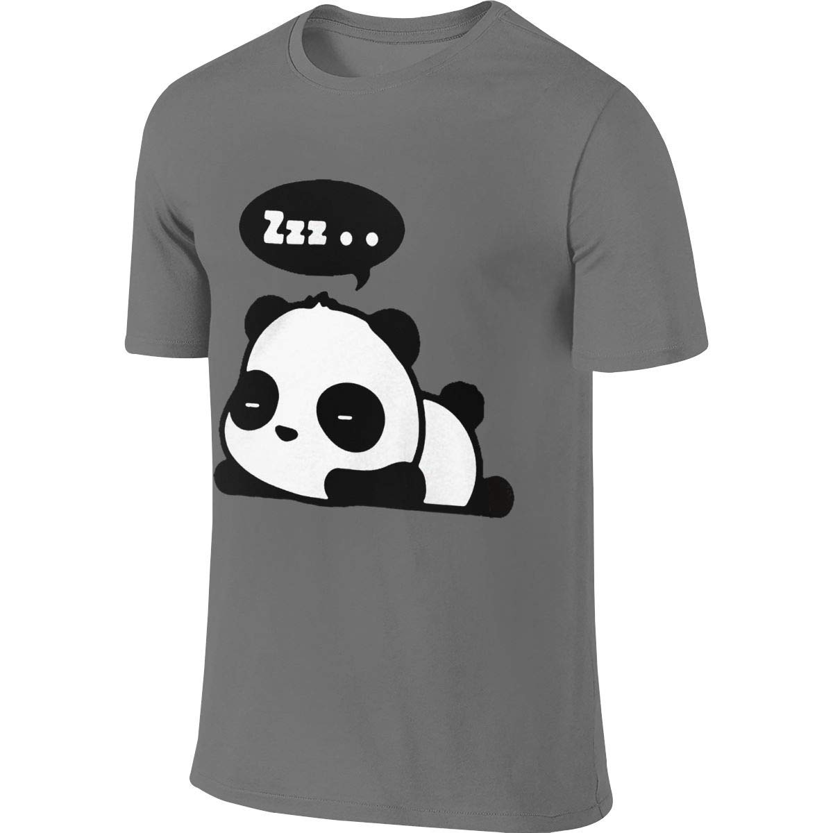 Deep Heather New Funny And Cute Sleeping Panda S Short Sleeve Tshirt