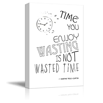 Amazoncom Wall26 Black And White Quote With Clock Time You