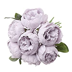 cici store Artificial Silk Fake Peony 7 Heads Flowers - Wedding Party Home Decoration Photography Props 93