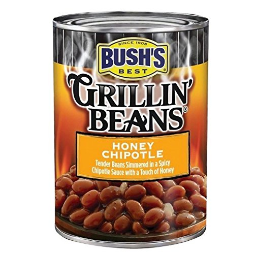 Honey Baked Beans - Bush's Honey Chipotle Grillin' Beans - 21.5oz (PACK OF 3 CANS)