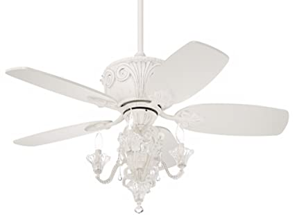 44u0026quot; Casa Deville Antique White Ceiling Fan With Light