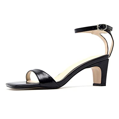 2d5d26f9052 Image Unavailable. Image not available for. Color  GIY Women s Low Block  Heel Sandal Open Toe Ankle Strap ...