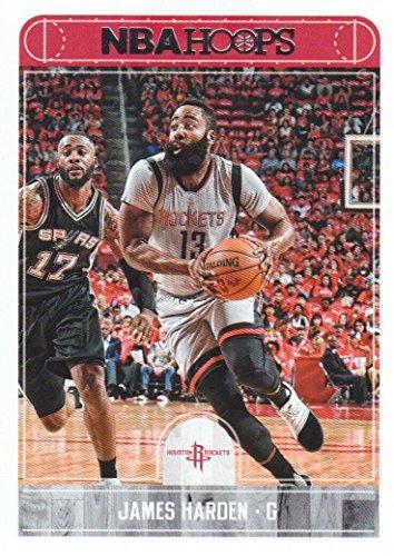 James Harden 2017 2018 Panini Hoops #184 Mint Houston Rockets Basketball Card in Protective Screwdown Display Case