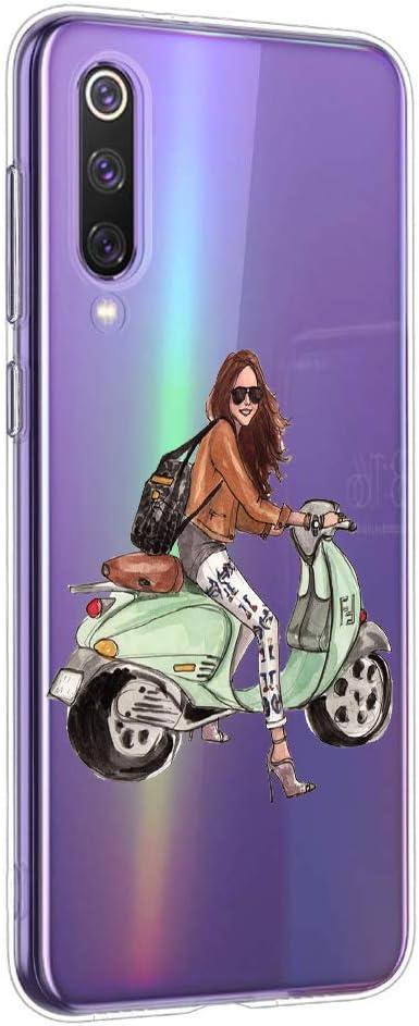 Oihxse Funda Compatible con Samsung Galaxy A50/A30S/A50S, Carcasa Transparente TPU Silicona Gel Ultra Fina Suave Protección Flexible Lindo Dibujos Anti-rasguños Caso Cubierta (A5)