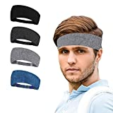 Diademas de 4 piezas a rayas, elástico, absorción de agua, secado rápido, para senderismo, correr, ciclismo, yoga, para hombres y mujeres/4 PCS Stripes Headbands, Elastic, Water Absorption, Quick Dry, for Hiking, Running, Cycling, Yoga, for Men and Women