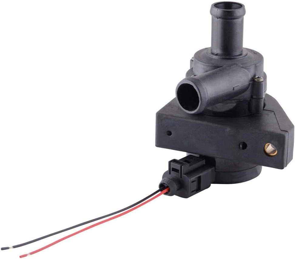 Hlyjoon Car Auxiliary Cooling Water Pump with Connection Nozzle Cable 1K0965561J Water Pump Fit for Beetle CC Sharan A3 TT Altea Mingrui Superb II Estate