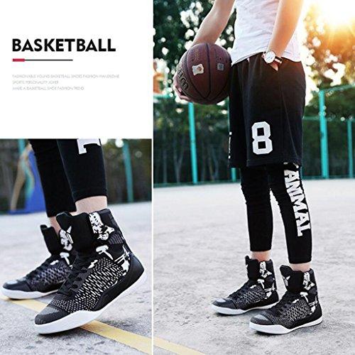 Männer Basketball Schuhe Outdoor-Sportschuhe Atmungsaktive Rutschfeste Dämpfung Stiefel 38-43 Black