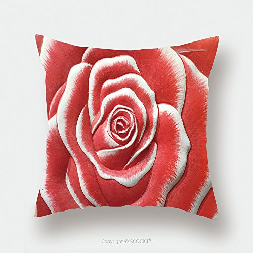 Custom Satin Pillowcase Protector Low Relief Cement Thai Style Handcraft Of Rose Flower 446468374 Pillow Case Covers Decorative by chaoran