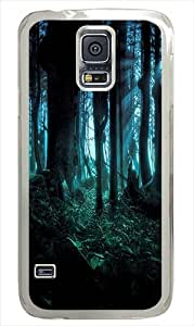 Samsung Galaxy S5 Case Cover - Spooky Woods Hard Case Cover Compatible with Samsung Galaxy S5 - Polycarbonate -White