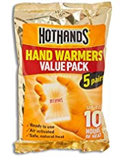 HOTHANDS Hand Warmers Pair Value Pack Air Activated Warmers Up to 10 Hours of Heat, 5 count