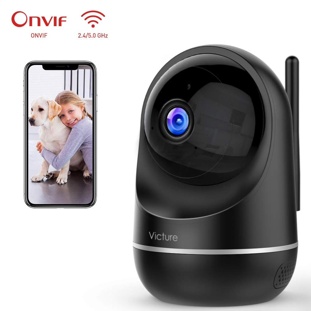 Victure Dualband 2.4Ghz 5Ghz Baby Monitor,1080P Security WiFi Camera Indoor Home Camera with Two-Way Audio,Motion Detection