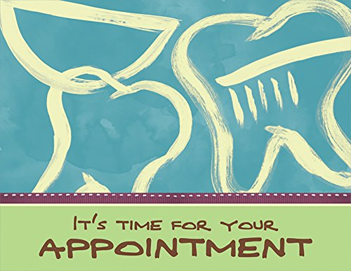 Practicon 512039 It's Time Appointment Practicare Postcard (Pack of 200) by Practicon