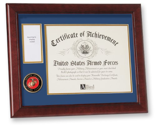Achievement Award Medal (Allied Frame United States Marine Corps Medal and Award Frame)