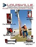Image of Louisville Ladder FE3224 Fiberglass Extension Ladder 300-Pound Capacity, 24-Feet