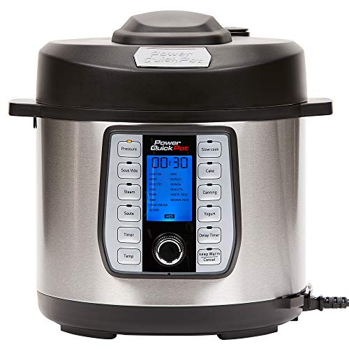 Power Quick Pot (6 QUART) 37 in1 Multi- Use Programmable Pressure Cooker, Slow Cooker, Rice Cooker, Yogurt Maker, Cake Maker, Egg Cooker, Baking, Sauté/Sear, Steamer, Hot Pot, Sous Vide and Warmer