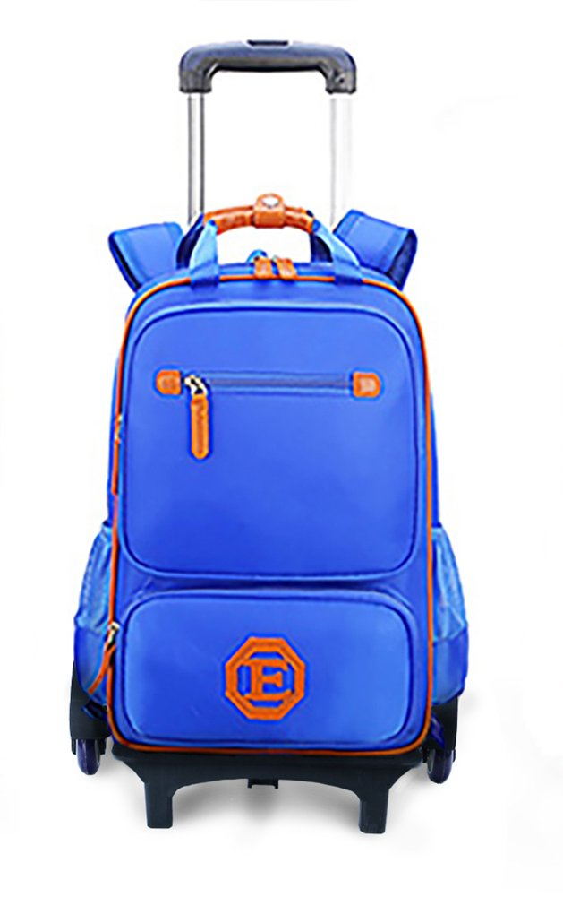 Meetbelify Trolley School Bags Rolling Backpack For Kids Six Wheels Climb Stairs With Lunch Bag Dark Blue
