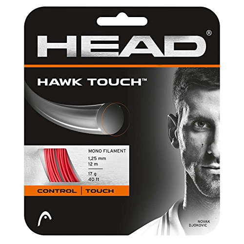 HEAD Hawk Touch Tennis String Set, 17g, Red - 17g String Set