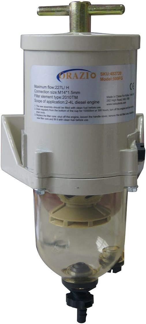 Filtro de Combustible Diesel Referencia 482720 Separador de Agua Tipo Racor HUANWEI FG500