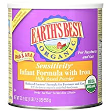 Earth's Best Organic, Sensitivity Infant Formula with Iron, 23.2 Ounce (Pack of 4) (Packaging May Vary) by Earth's Best