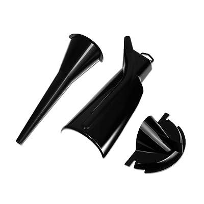 Rebacker Crankcase Fill Funnel Primary Case Oil Fill Drip-Free Oil Funnel Set for Harley 3pcs All Black: Automotive