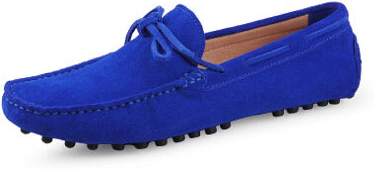 Fengxinzi Mens Slip On Suede Leather Loafer