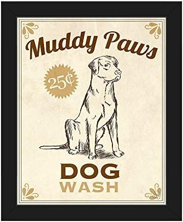Muddy Paws Dog Wash Cute Bathroom Sign