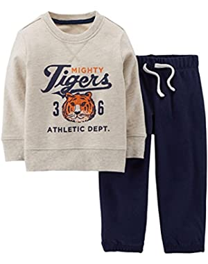Baby Boys' 2 Piece Pant Set (Baby) - Heather - 6 Months