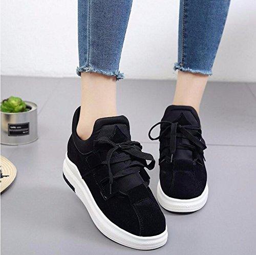 Ocio Zapatos Mujer Gruesa Zapatos Terciopelo La 38 Coreana Versión Plus De Zapatos Negro Estudiante Planos De De 37 De KHSKX De 5Cm qw0AYSp